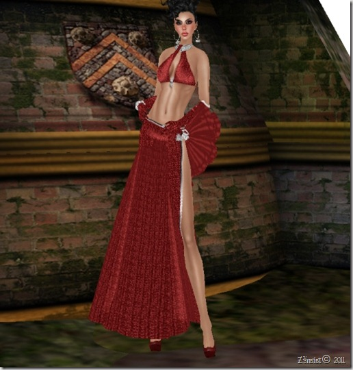 JULIA RED -DIAMOND PLATINUM Gown  By Gelese Giano_004
