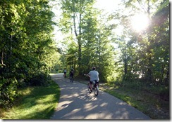 Bike path by Lake Erie-Geneva State Park (OH)
