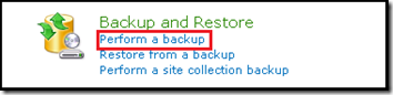 Perform a backup