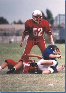 Bryan playing football