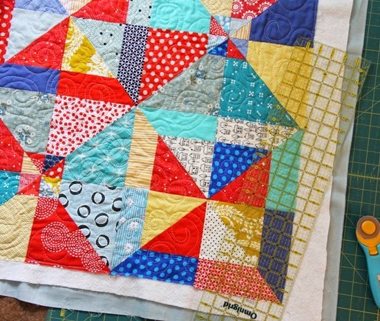 Trimming Summer Slice Quilt