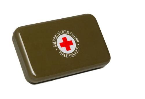 When I first saw this lovely vintage-looking first aid kit, I had to get one. I haven't seen another as sophisticated since. (redcrossstore.com)