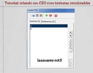Tutorial - criando um CSO com texturas recolorables (lassoares-rct3) RCT Importer I