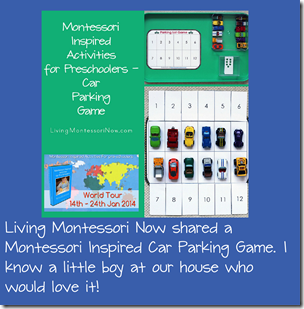 montessori inspired car parking game for kids