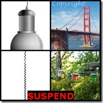 SUSPEND- 4 Pics 1 Word Answers 3 Letters