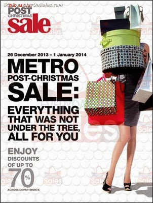 METRO Post-Christmas Sale Singapore Jualan Gudang EverydayOnSales Offers Buy Sell Shopping