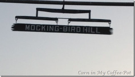 Mocking Bird Hill signage