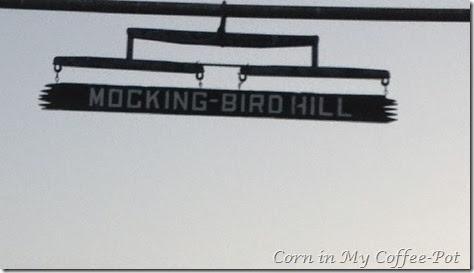 Mocking Bird Hill signage