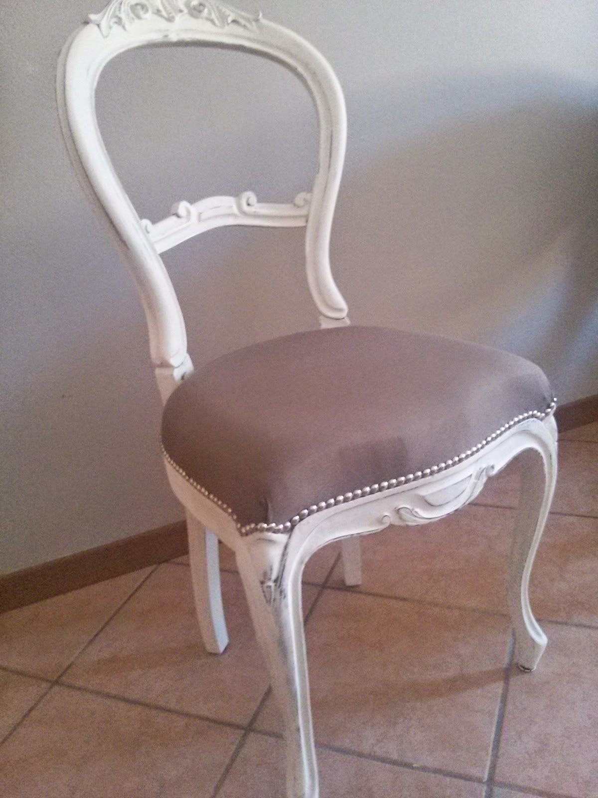 Favoloso Pennellate Artistiche: Sedia shabby chic/ shabby chic chair KE75