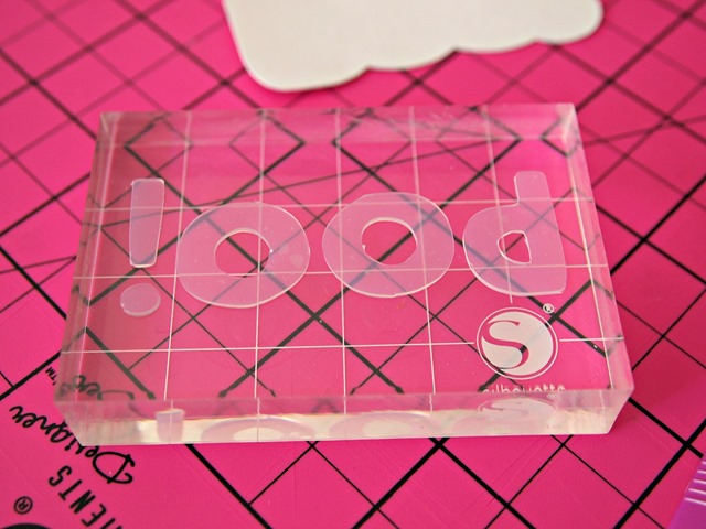 Silhouette stamping material glass block #stamping #spon