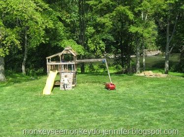 repurposed swing set