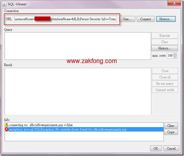 201200610-10-Weka-連接MS SQL SERVER 2008 R2-W