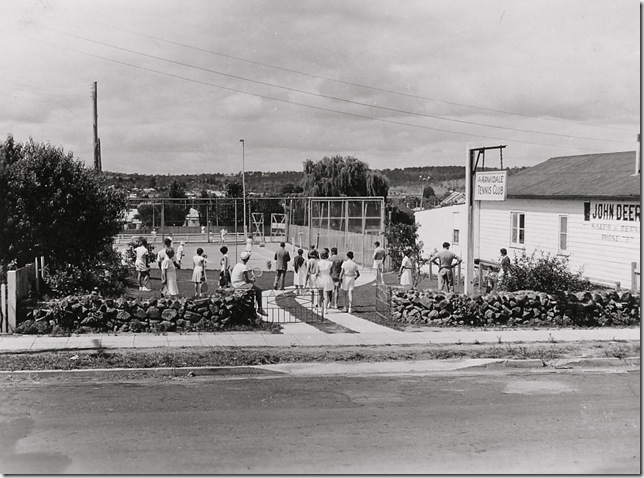 Armidale tennis club 1950s