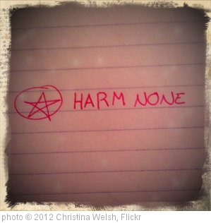 'Harm None' photo (c) 2012, Christina Welsh - license: http://creativecommons.org/licenses/by-nd/2.0/