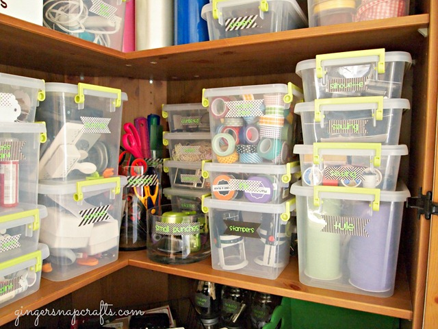 craft storage area