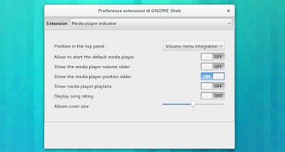 Media player indicator - Preferenze