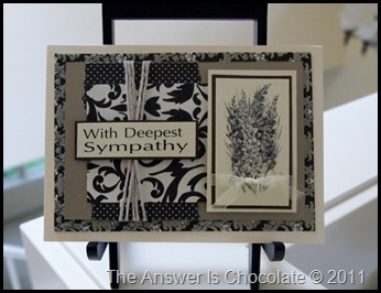 Black Cream Sympathy Card