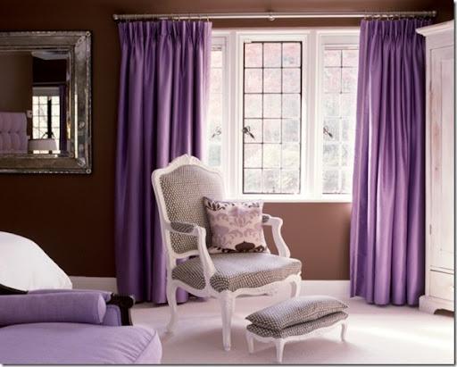 Pareti Viola E Lilla : Uso del colore viola case e interni