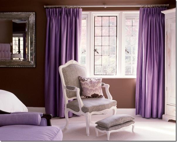 Uso del colore viola case e interni for Case prodotte con 2 master suite