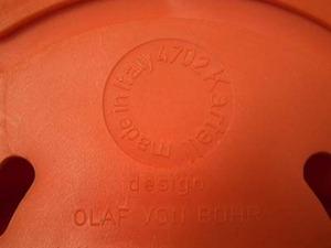 Olaf von Bohr 4702 hook for Kartell, orange