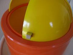 Nicholas Angelakos ice bucket, orange and yellow
