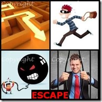 ESCAPE- 4 Pics 1 Word Answers 3 Letters