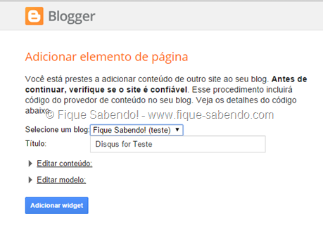 Adicionar Disqus no Blogger