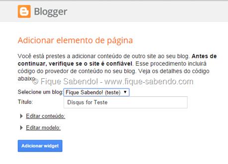 Adicionar Disqus no Blogger