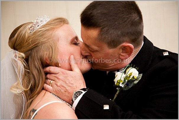 the first kiss wedding photography at the cults hotel aberdeen