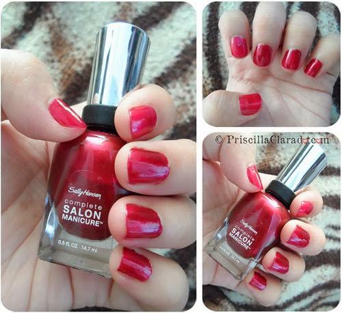 Priscilla Clara beauty blogger review Sally Hansen nail polish_2