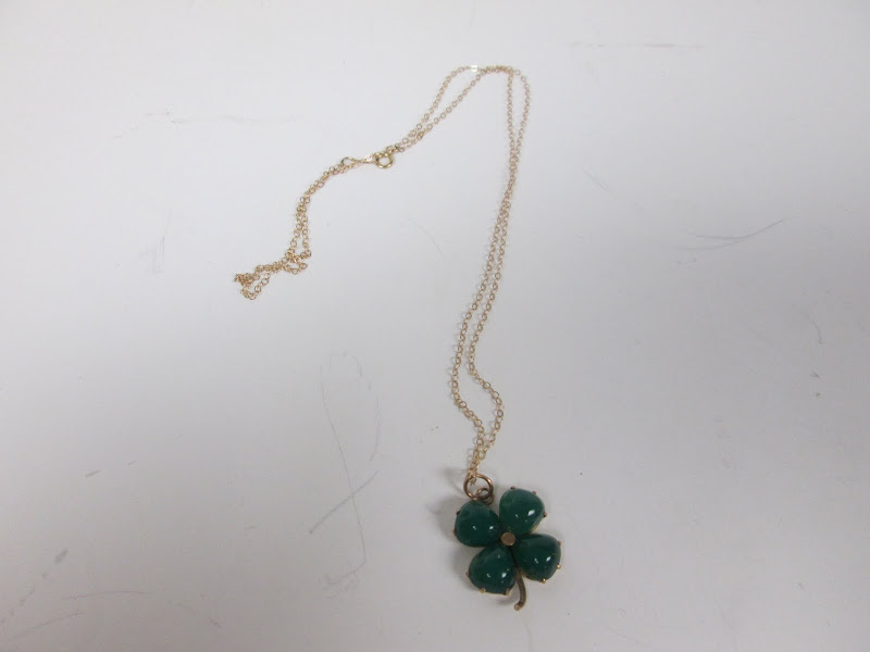 14KT Gold CLover Necklace