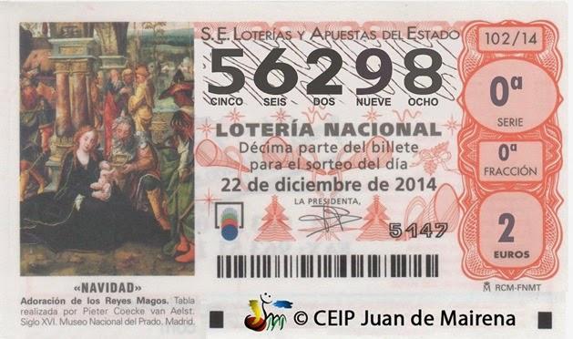 loteria navidad entrada
