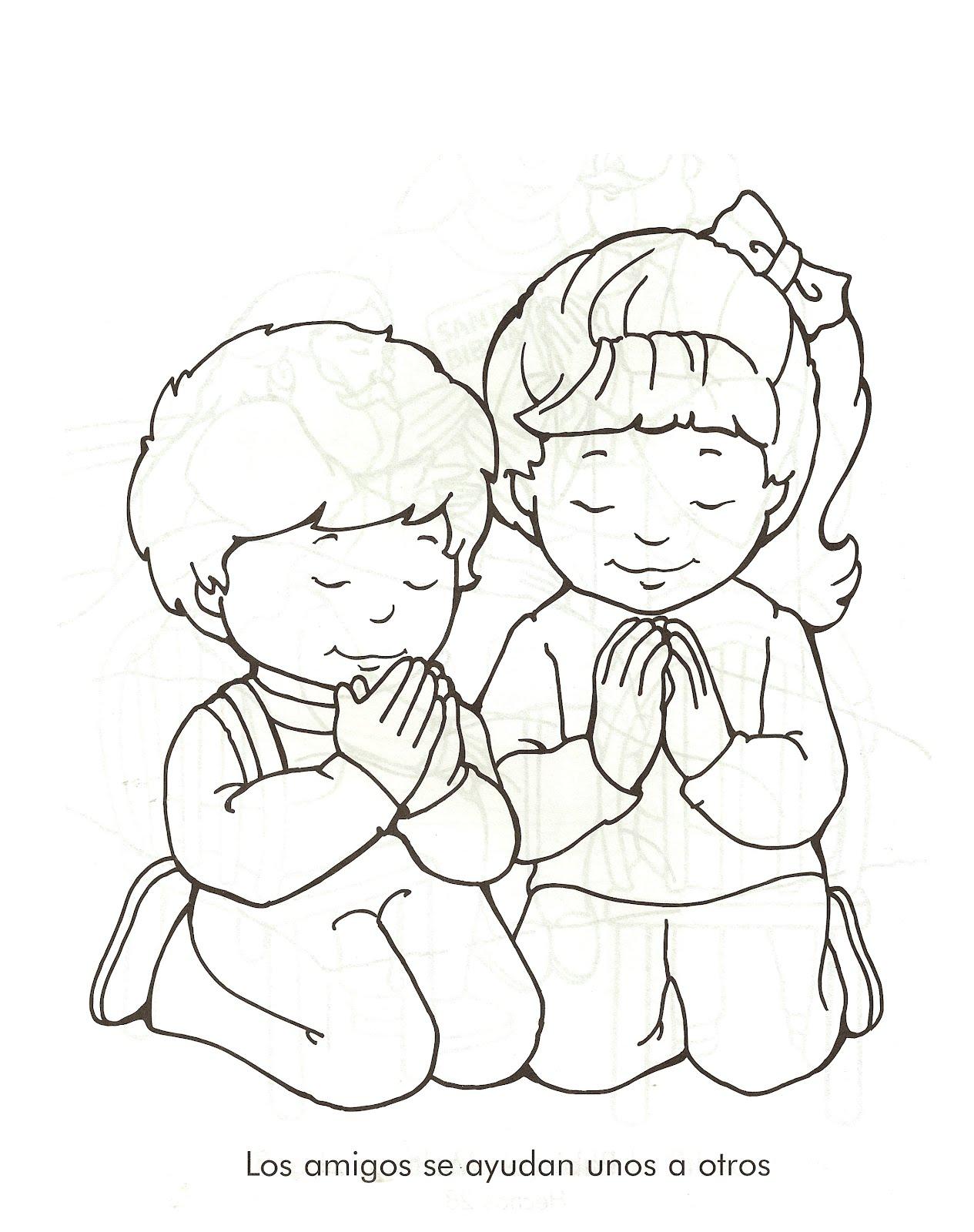Pinturas de niños orando - Imagui