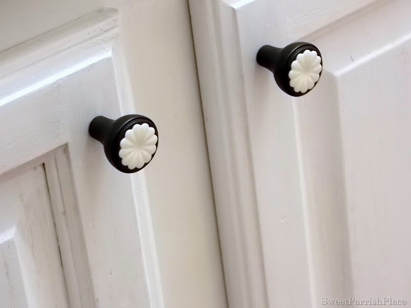 New cabinet knobs