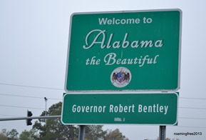 Alabama - a new state for us!