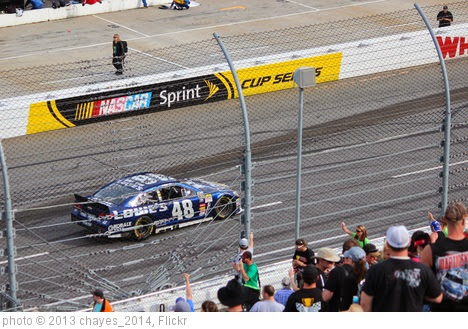 'Jimmie Johnson celebrates victory, 2013 STP Gas Booster 500' photo (c) 2013, chayes_2014 - license: https://creativecommons.org/licenses/by-sa/2.0/