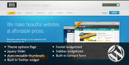 BVD-Beautiful Website Design-Wordpress - ThemeForest Item for Sale