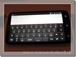 Tastatur quer