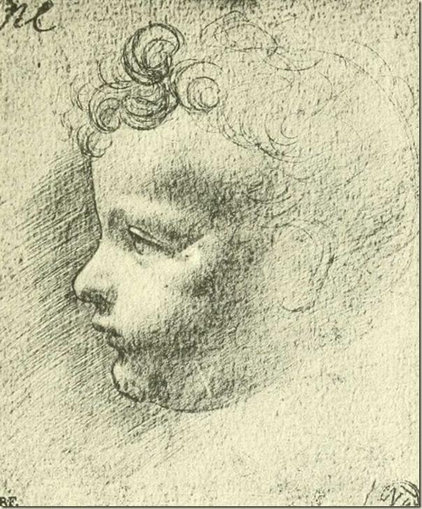Leonard de Vinci, Tête d'enfant