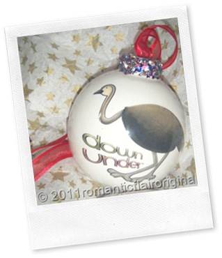 Personalized Christmas Emu bauble