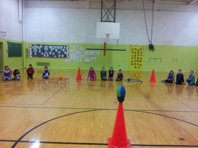 Physical education cardio bop ball