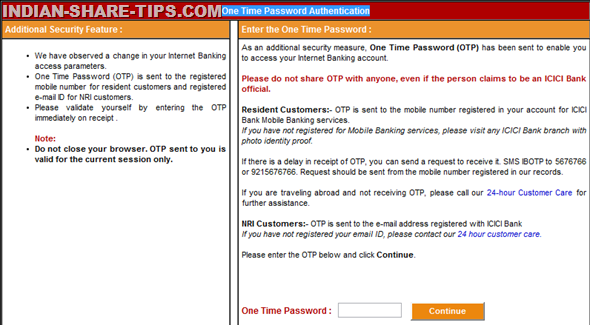 how to get sbi otp on email