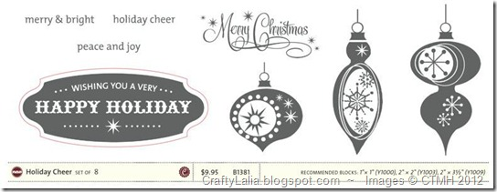 B1381 Holiday Cheer CTMH Cricut Close to My Heart