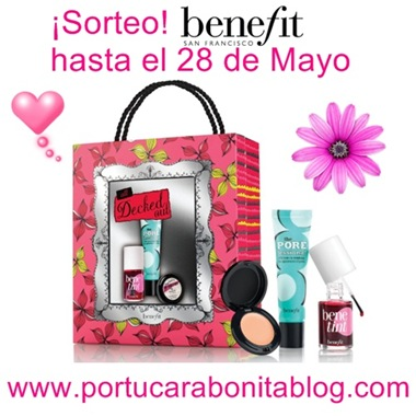 banner del sorteo de benefit All Decked Out