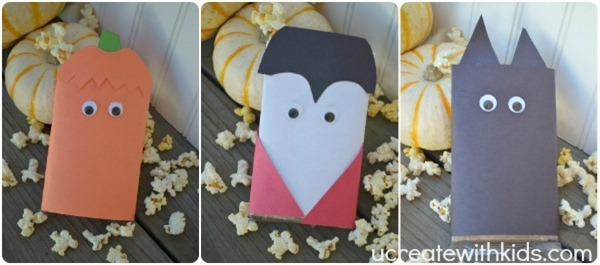 Pumpkin Vampire Cat Popcorn Favors