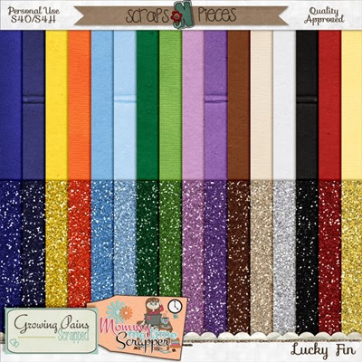 Lucky Fin - Cardstock and Glitter