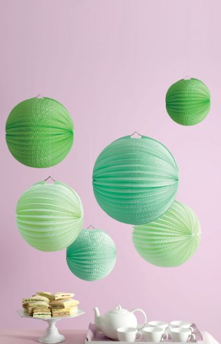 I love these Martha Stewart Lanterns in shades of emerald and mint -- so chic. (shop.marthastewart.com)