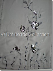 Motif sequins and beading