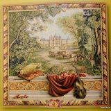 Gobelin 9151, Verdure au chateau, 150x150cm