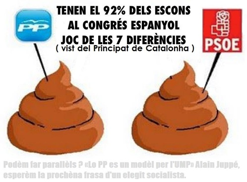 PP PSOE comparason merdica